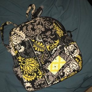 Vera Bradley small backpack and wallet